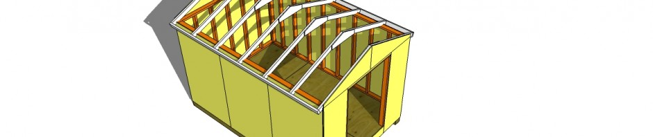 shed roof - how to build a shed roof