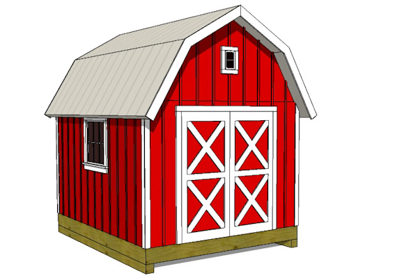 gambrel barn shed plans front elevation