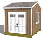 12x12 gable shed plans elevation