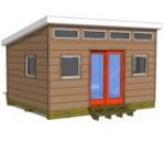 12x16 studio shed model S1