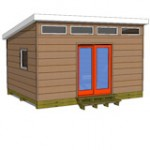 12x16 studio shed model S1 with optional front