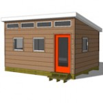 12x16 studio shed model S2 with optional front