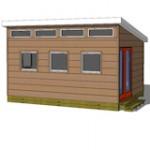 12x16 studio shed model S3