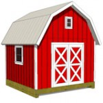 12x12 gambrel shed plans front