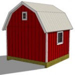 12x12 gambrel shed plans rear view