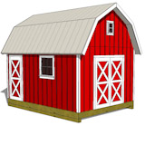 12x16 gambrel shed plans front view