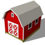 12x16 gambrel shed plans top view