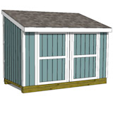 6x12 lean to shed plans front elevation
