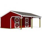 22x24 2 stall horse barn