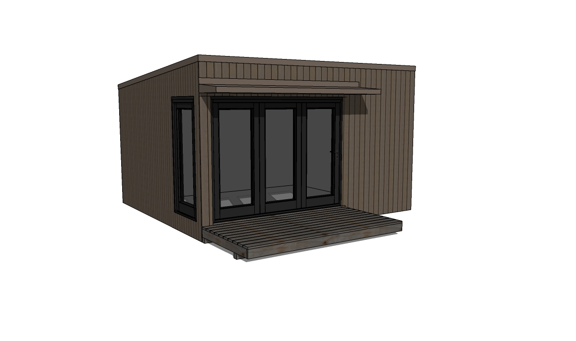 8 x 12 modern shed plans for Contemporary shed plans