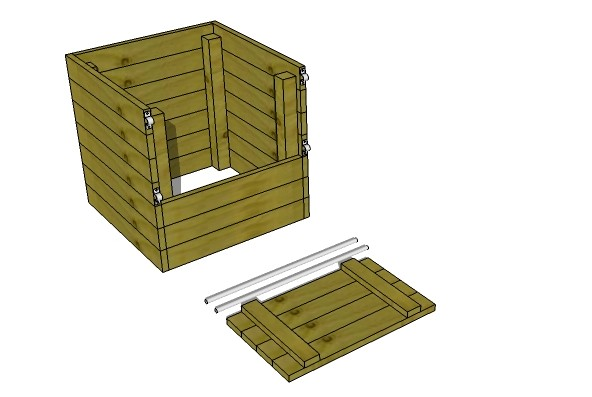 single compartment wood compost bin plans