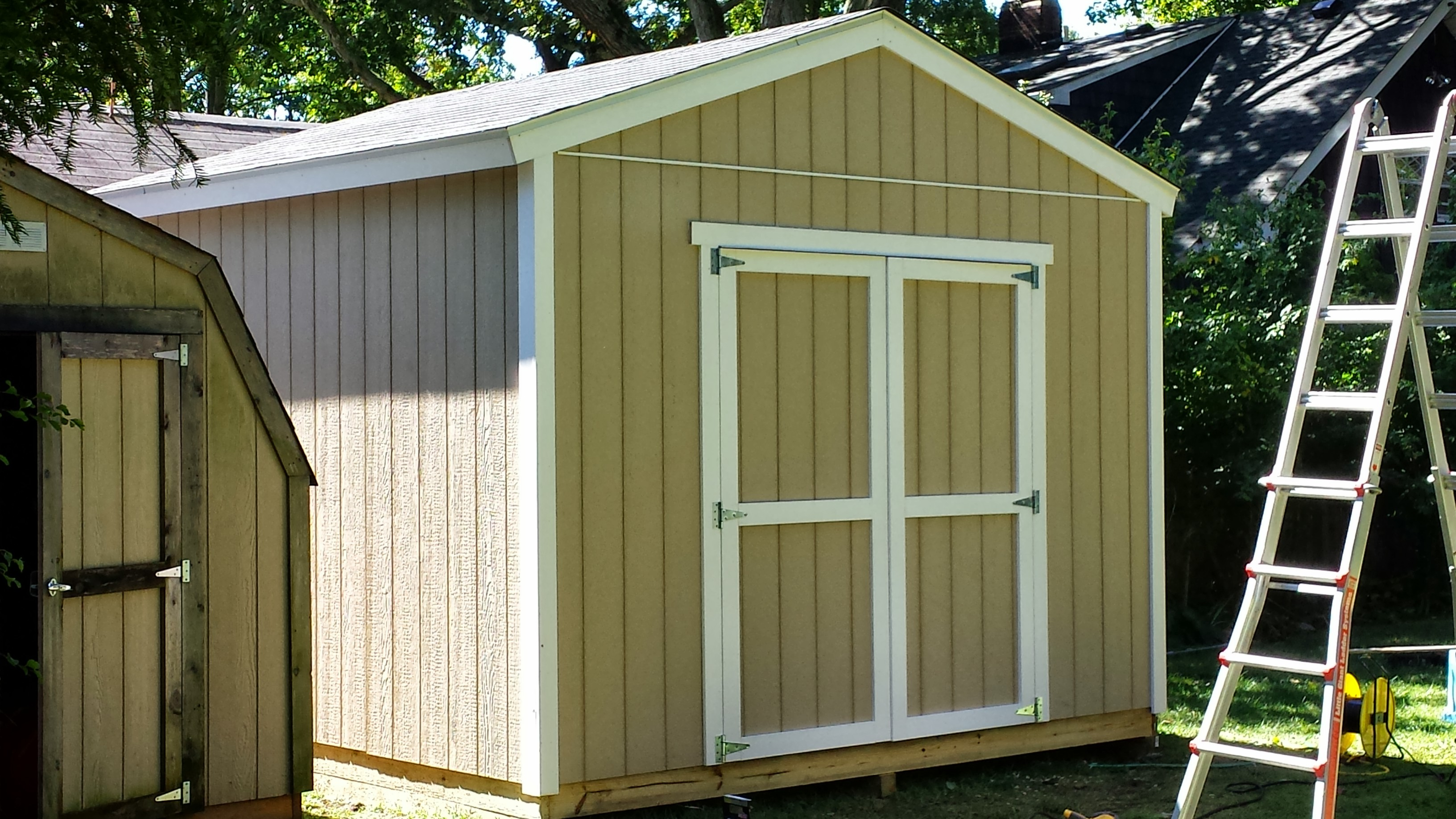 12 12 customer built gable shed for Gable shed plans