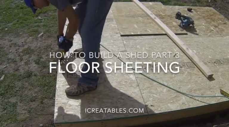 How To Build A Shed Floor Sheeting
