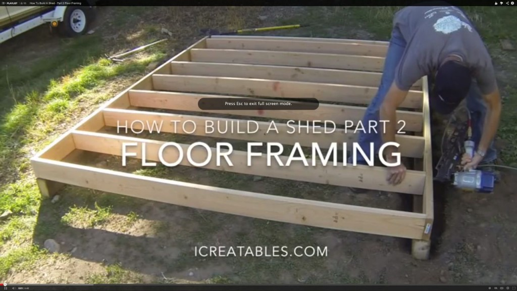 how to frame a shed floor - installing floor joists