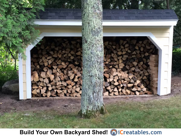 4x12 Firewood Shed Plans front elevation