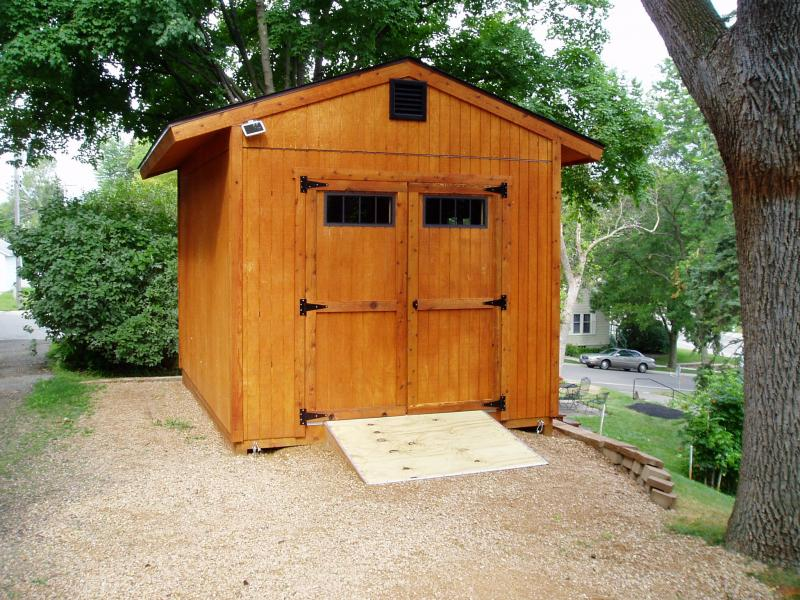 10x14 Gable Shed Front