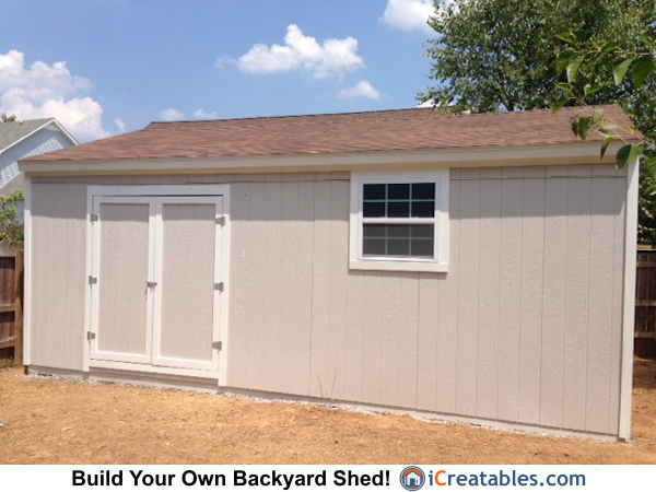 16x24 gable shed front. Large Backyard Shed