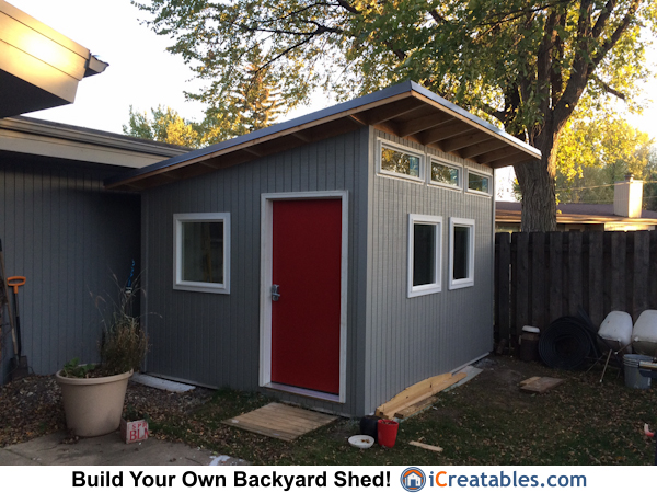 10 12 Modern Shed Build In North Dakota