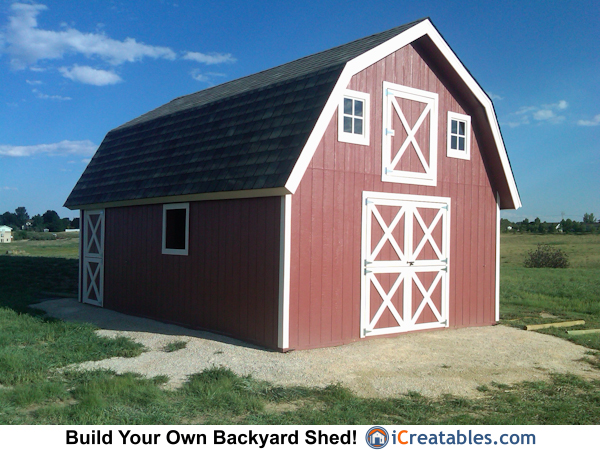 16x24 Gambrel Shed Built In Colorado Icreatables Com