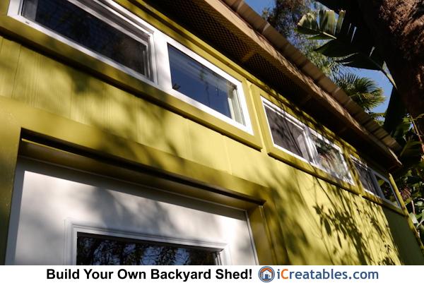 10x12 modern shed plans front upper windows