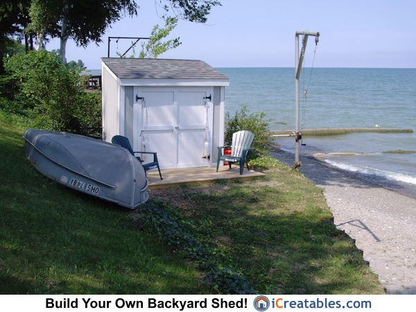 4 8 lean to shed boat storage plan for Boat storage shed plans
