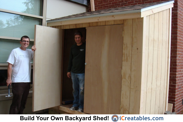 4x8 lean to shed build.