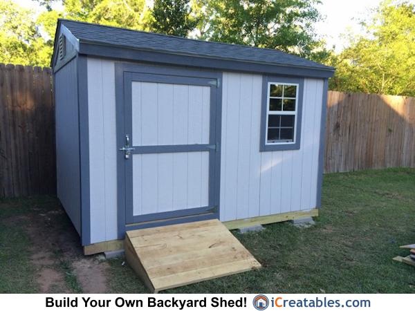 8x12 Backyard Shed Plans