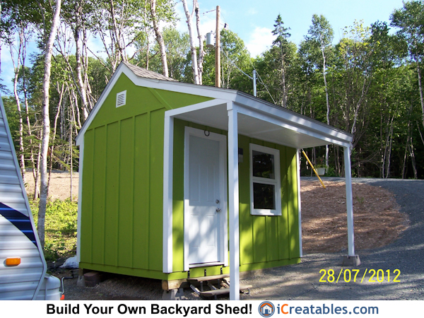 8x12 Cape Cod Garden Shed With Porch