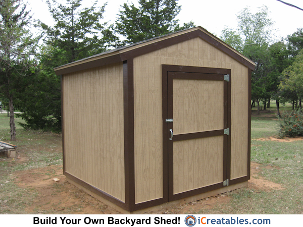 8x8 Backyard Shed Plans Built In Choctaw Oklohama