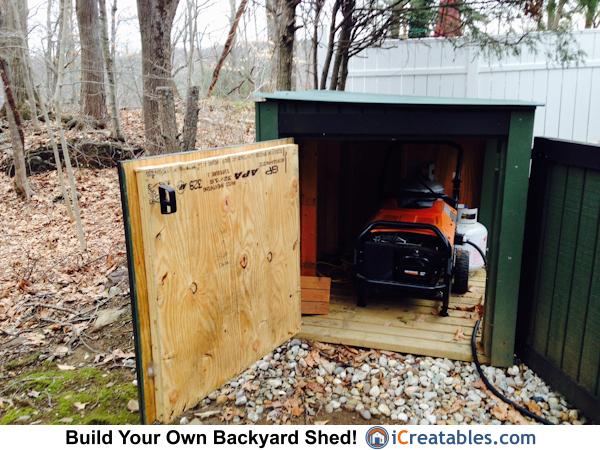 portable propane generator shed plans