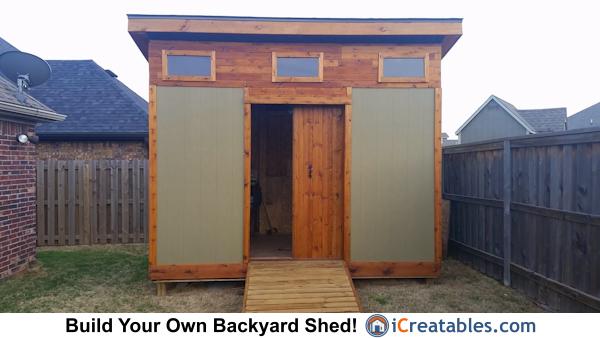 10 12 modern shed design built in arkansas for Modern shed prices