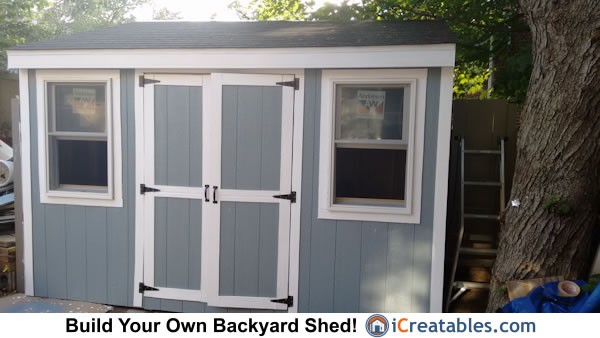 6x12 lean to backyard shed design
