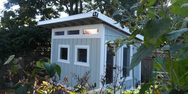 10x12 Modern Studio Shed Art Studio