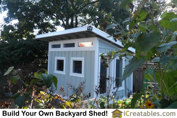 10x12 modern studio shed art studio