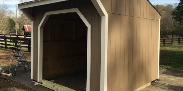 10x10 Run In Shed Built From Run In Shed Plans by iCreatables.com