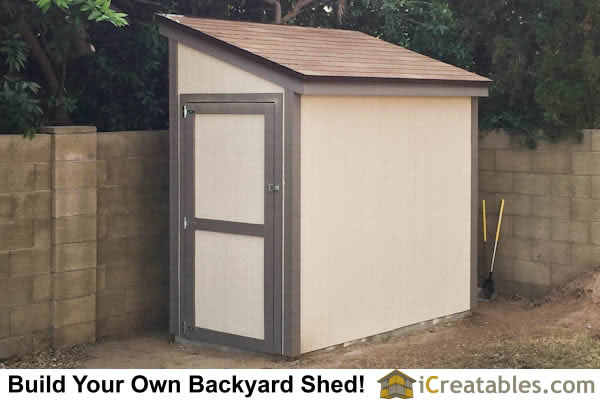 4 8 Lean To Shed Plans With Door On End Built In Glendale