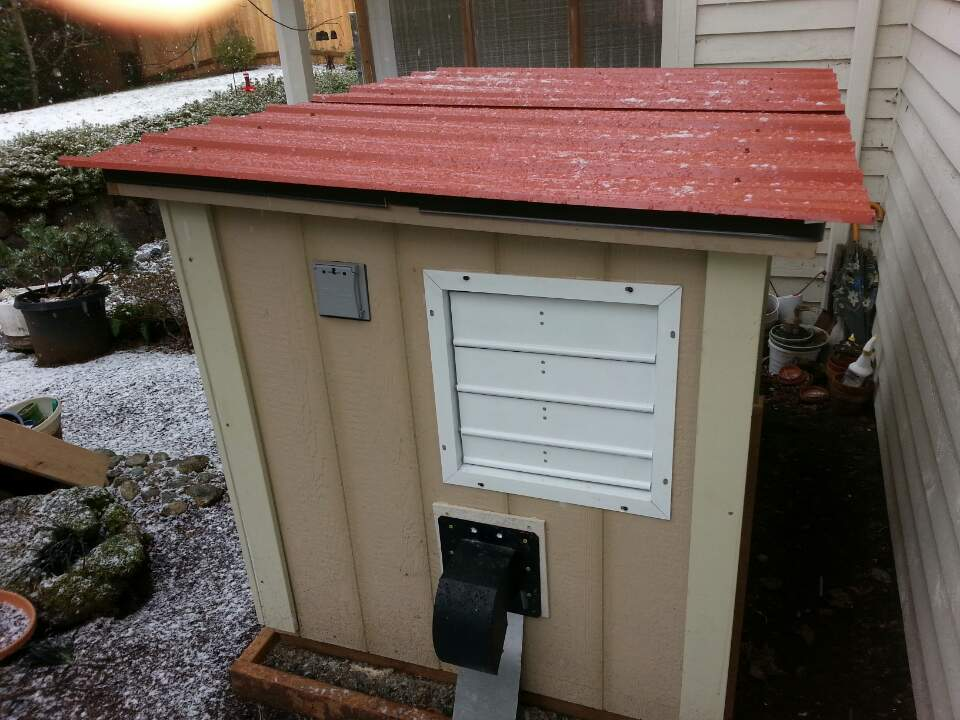 5x3 Generator Shed Built With Door On Roof Icreatables Com