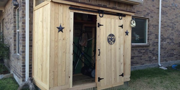 Lean to shed plans with barn door