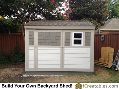 8x10 backyard shed plans