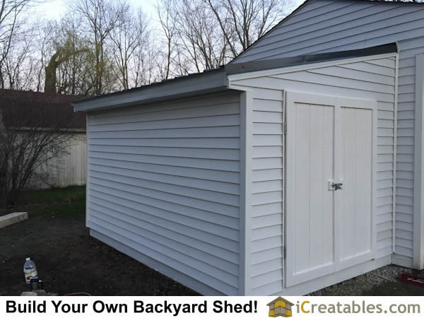Lean to shed attached to garage for Side of the house storage shed