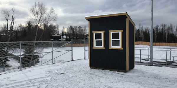 4x8 lean to shed-plans ticket-booth completed anchorage
