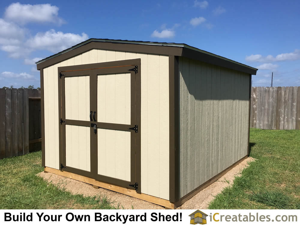 10x12 Backyard Shed Plans