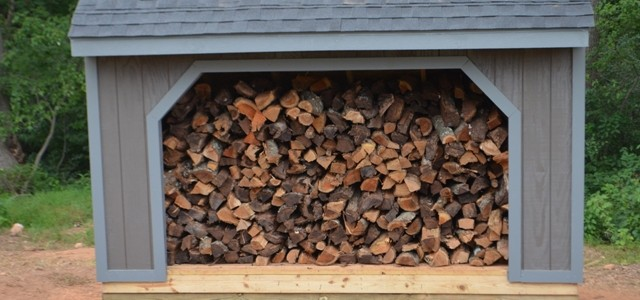 Firewood storage shed plan.