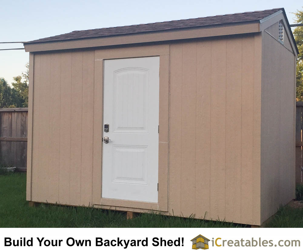 Backyard Shed Plans - 8x12 Size