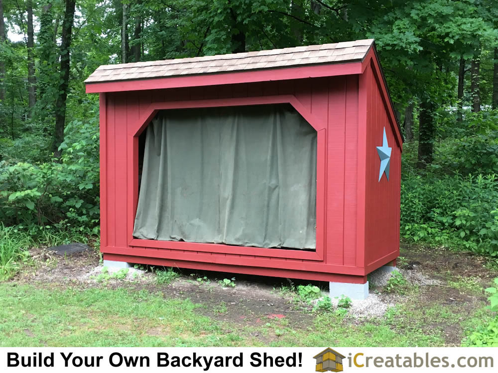 5x12 Firewood Storage Shed Plans