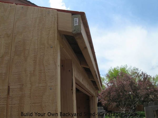 lean to shed roof overhang