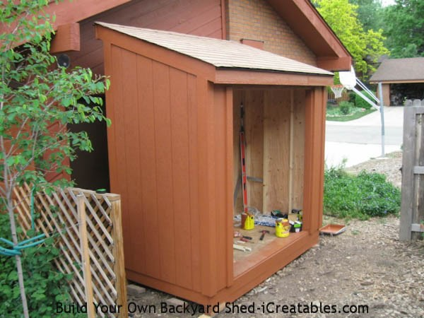 painting storage shed
