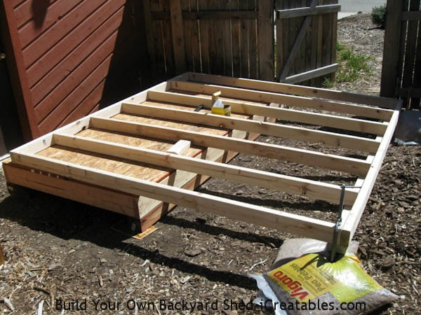 wall framing for the lean to shed