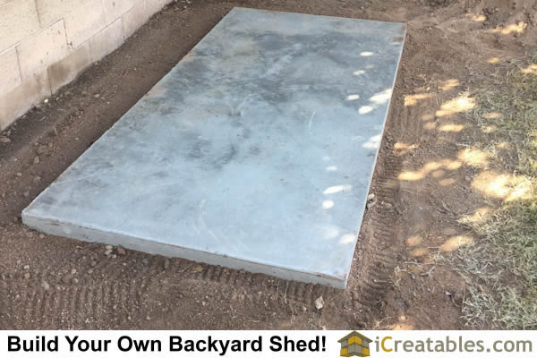 Pre Made Cement Slab : Pictures of lean to sheds photos shed plans