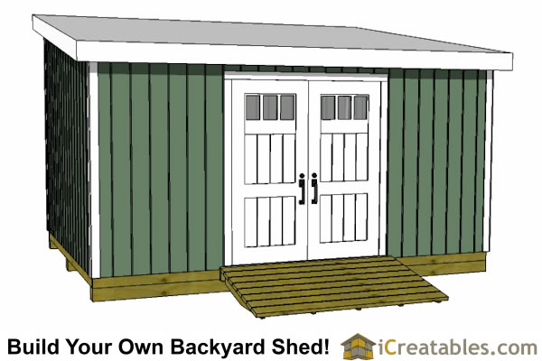 12x16 lean to shed plans